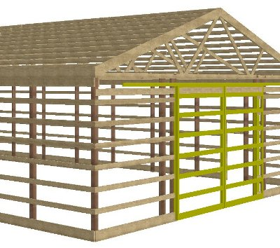 Sims construction post frame buildings for Post frame building plans